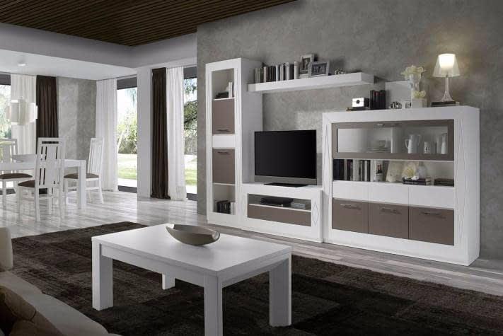 Mueble Salon Fuensalida Ancho 3.15 Madera Maciza Lacada   Comercial ...