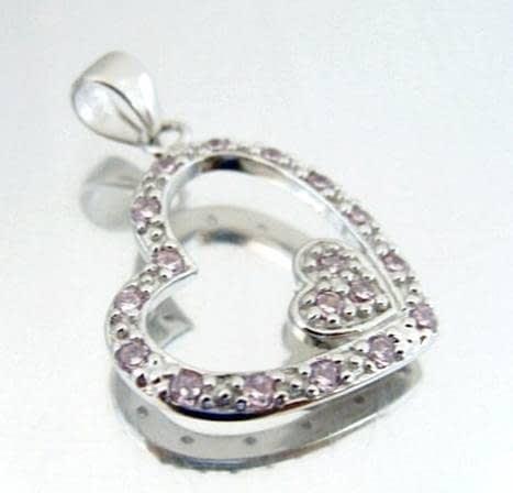 e3539979926d Colgante de plata dos corazones