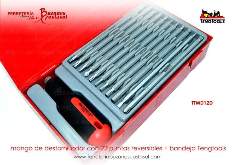 Teng Tools MD928N46.5mm 100mm destornillador plano-medio mango