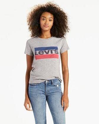 talla 40 27655 d8dc4 Camiseta Levis Mujer Gris Logo Dos Colores | Bogart Moda | Tienda Multimarca