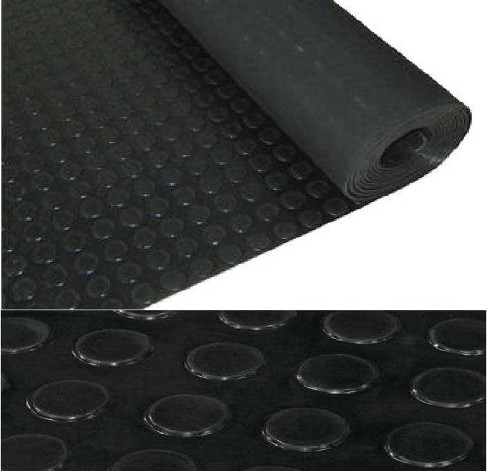 cc17deee14a Pavimento De Caucho Rollo Circulos Negro 10x1mt Eco En 3mm