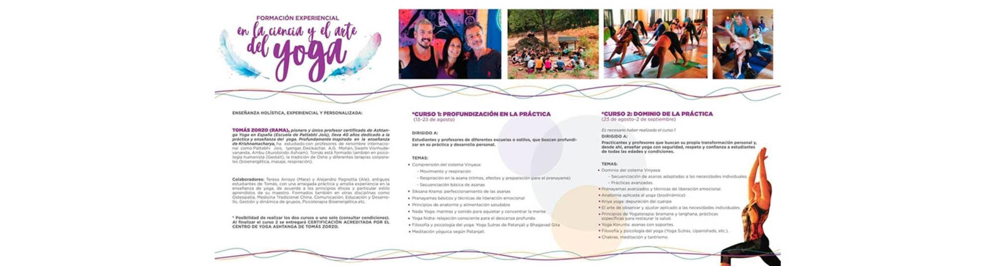 Formación experiencial en la Ciencia y el Arte del Yoga  25ea72157db6