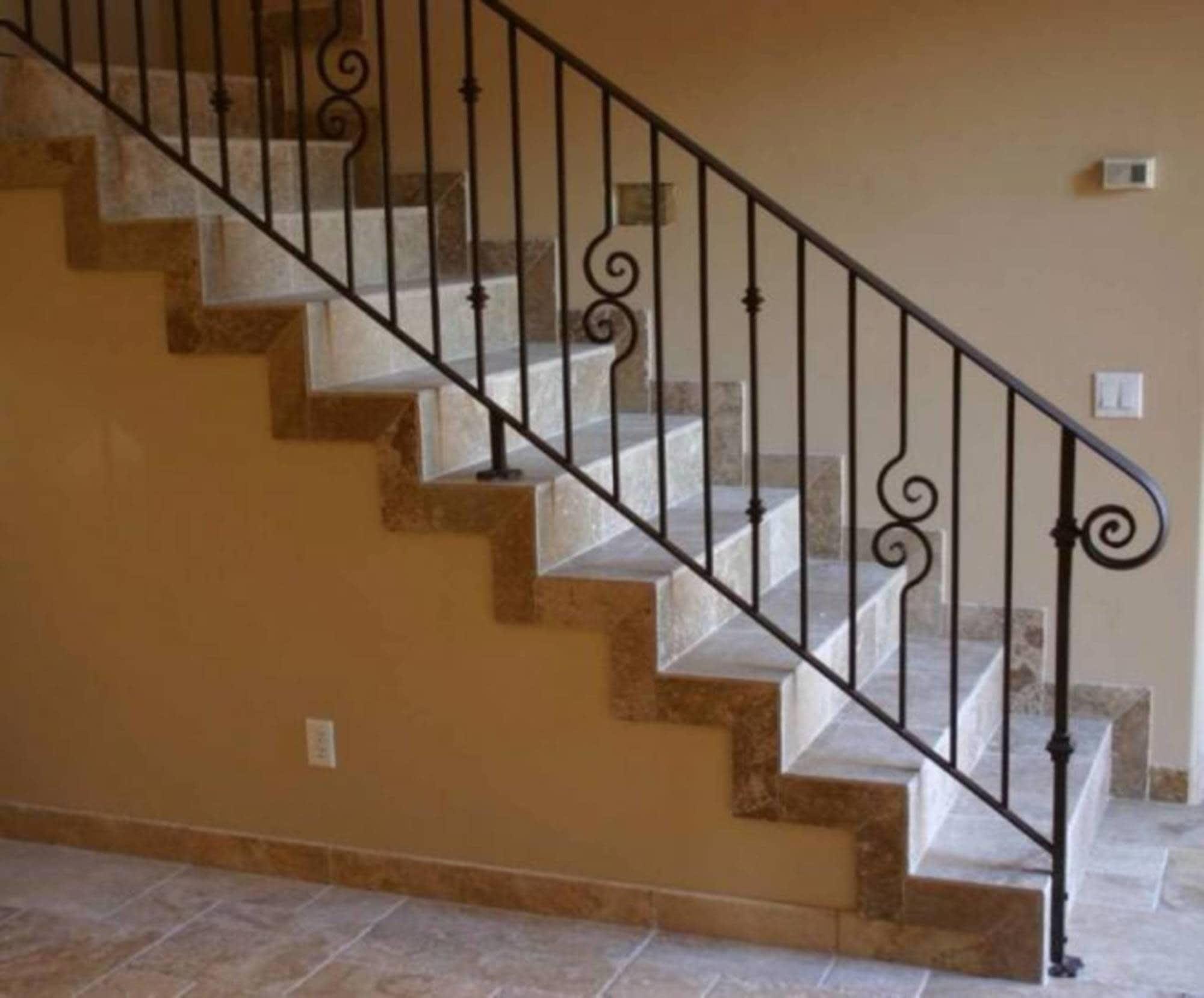 Barandas De Hierro Para Escaleras Interiores Hierro Barandillas Para ...