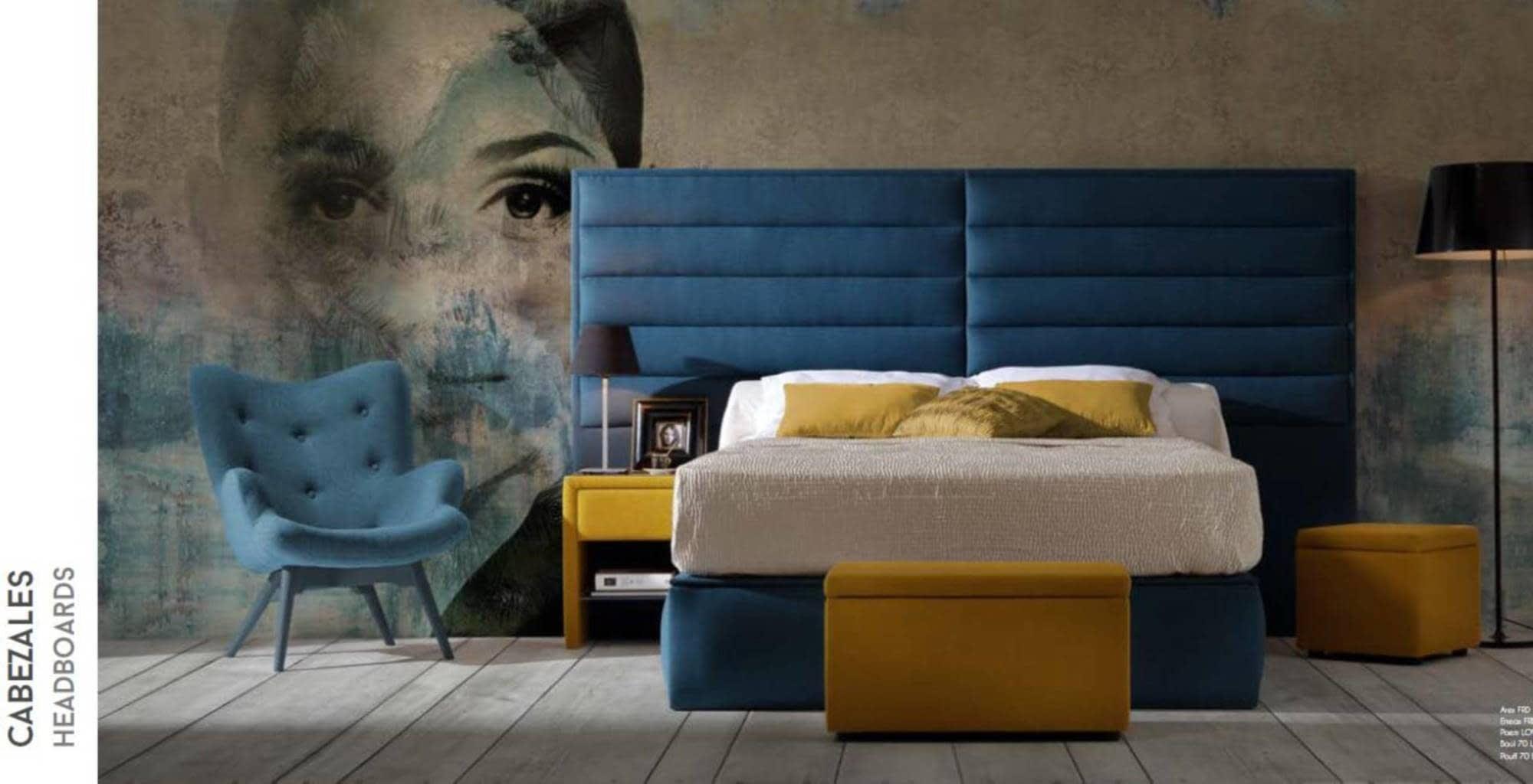 Magnífico Cabecero Rey Con Muebles De Almacenamiento Galería ...