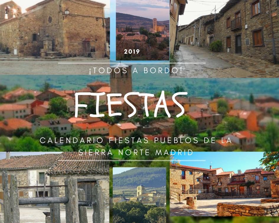 Calendario Fiestas Pueblos Sierra Norte Madrid 2019 Estrella Rural Casa Rural Sierra De Madrid