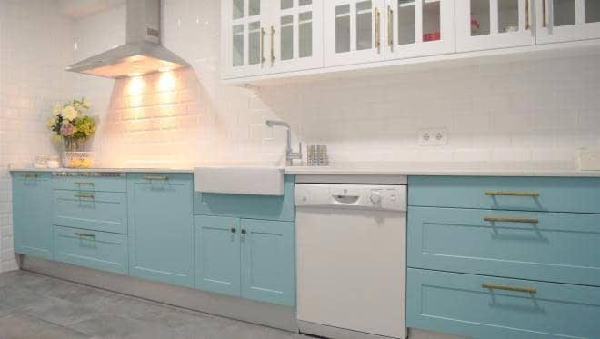 Muebles de cocina sin brillo, maderas y encimeras. | Davanni ...