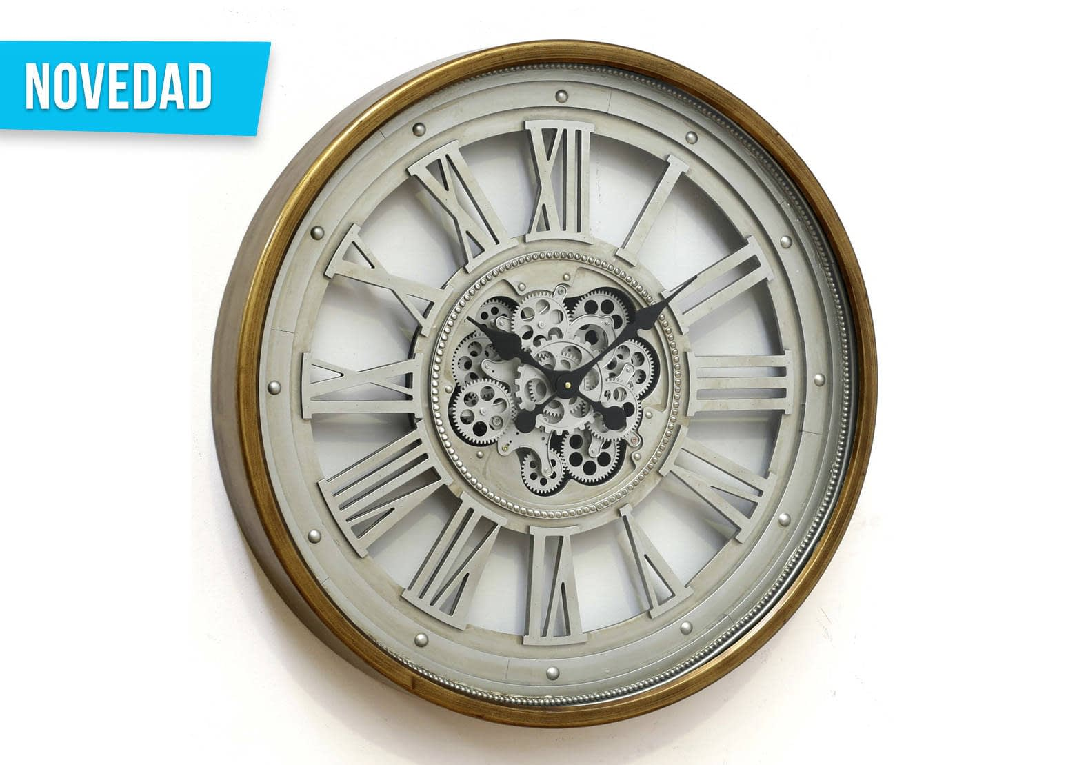 Reloj doble marco engranajes | Aralart Decoración Danza