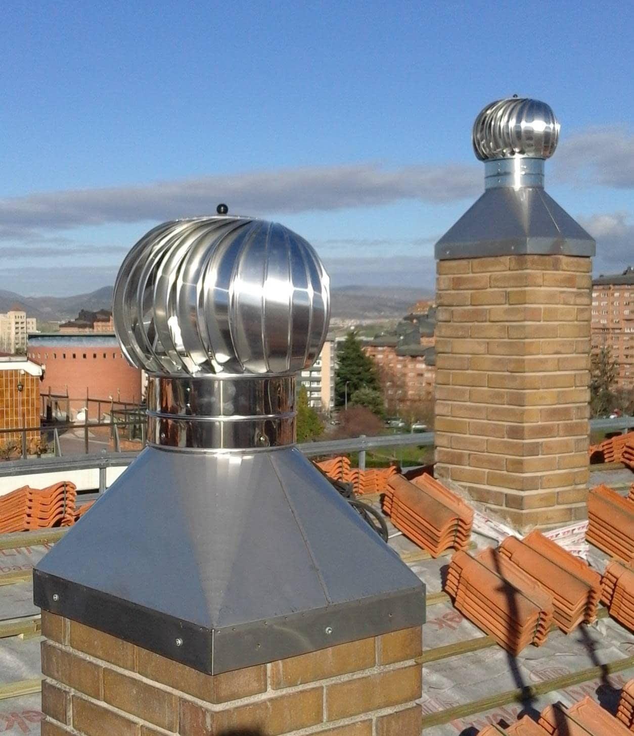 Extractores eolicos turbovent para ventilaciones de  comunidades de vecinos