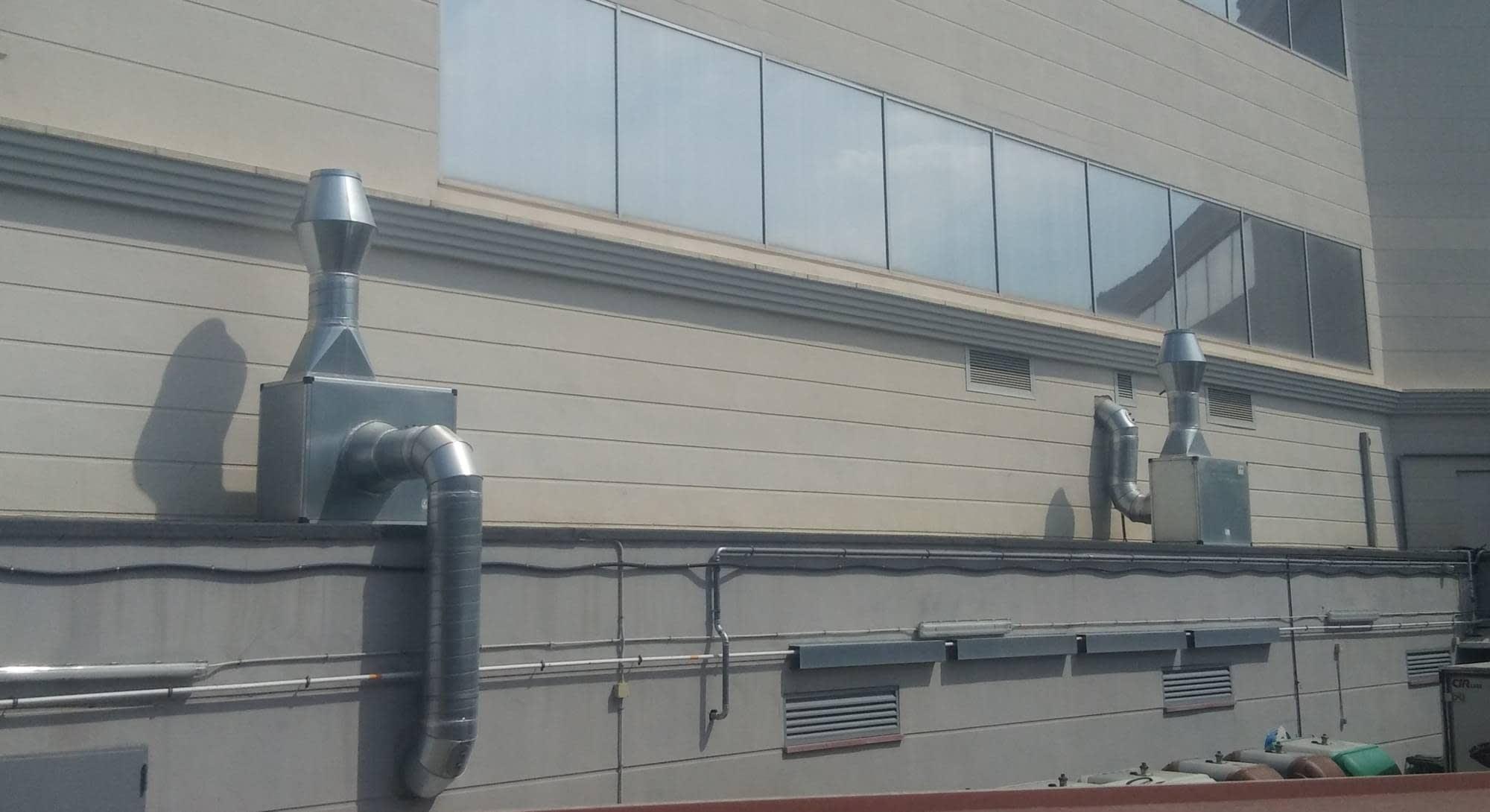 Terminales tipo Jet para extracción de ventilaciones en hoteles