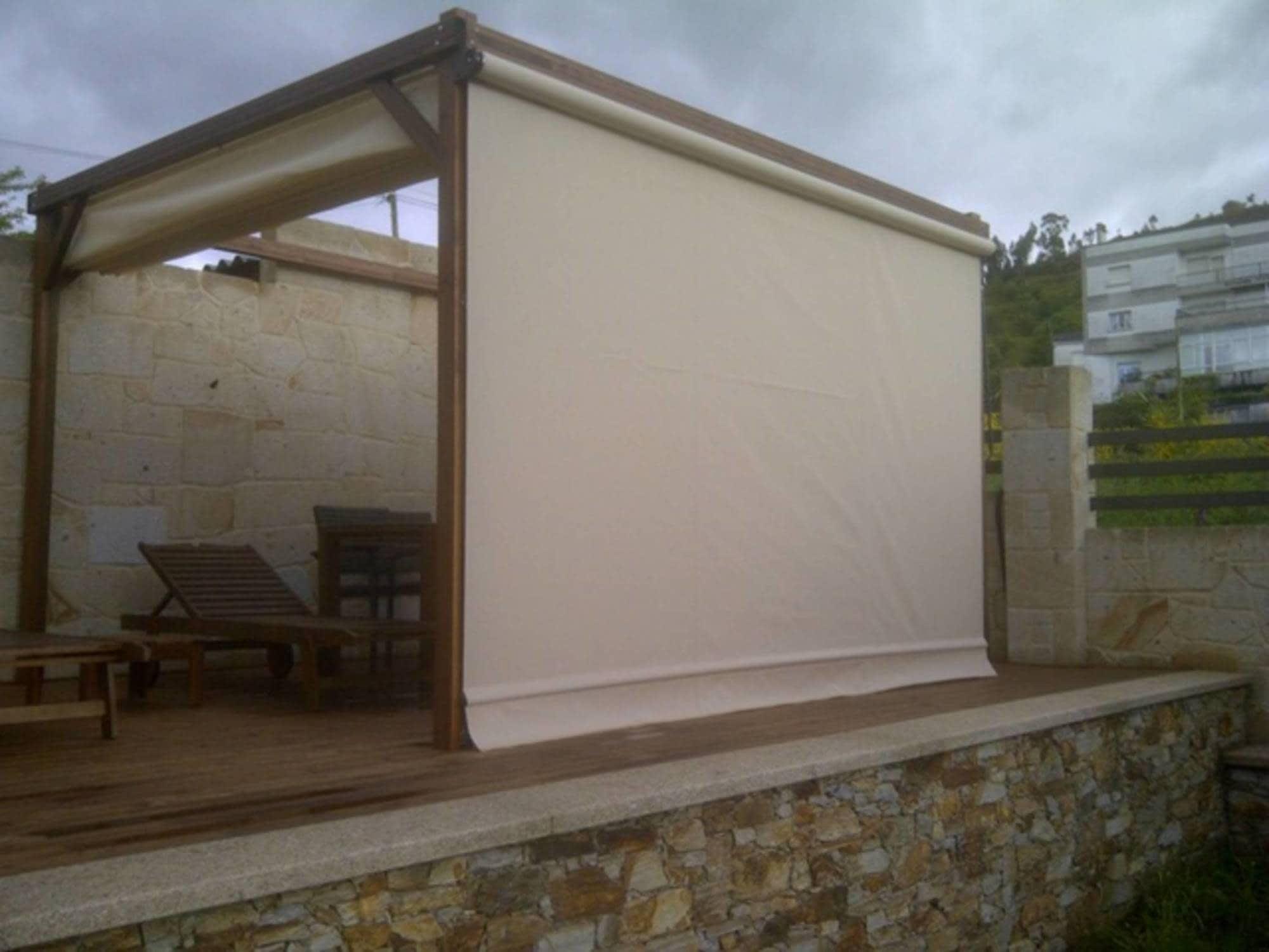 Toldos fijos para exteriores free anuncio n with toldos for Toldos laterales para terrazas