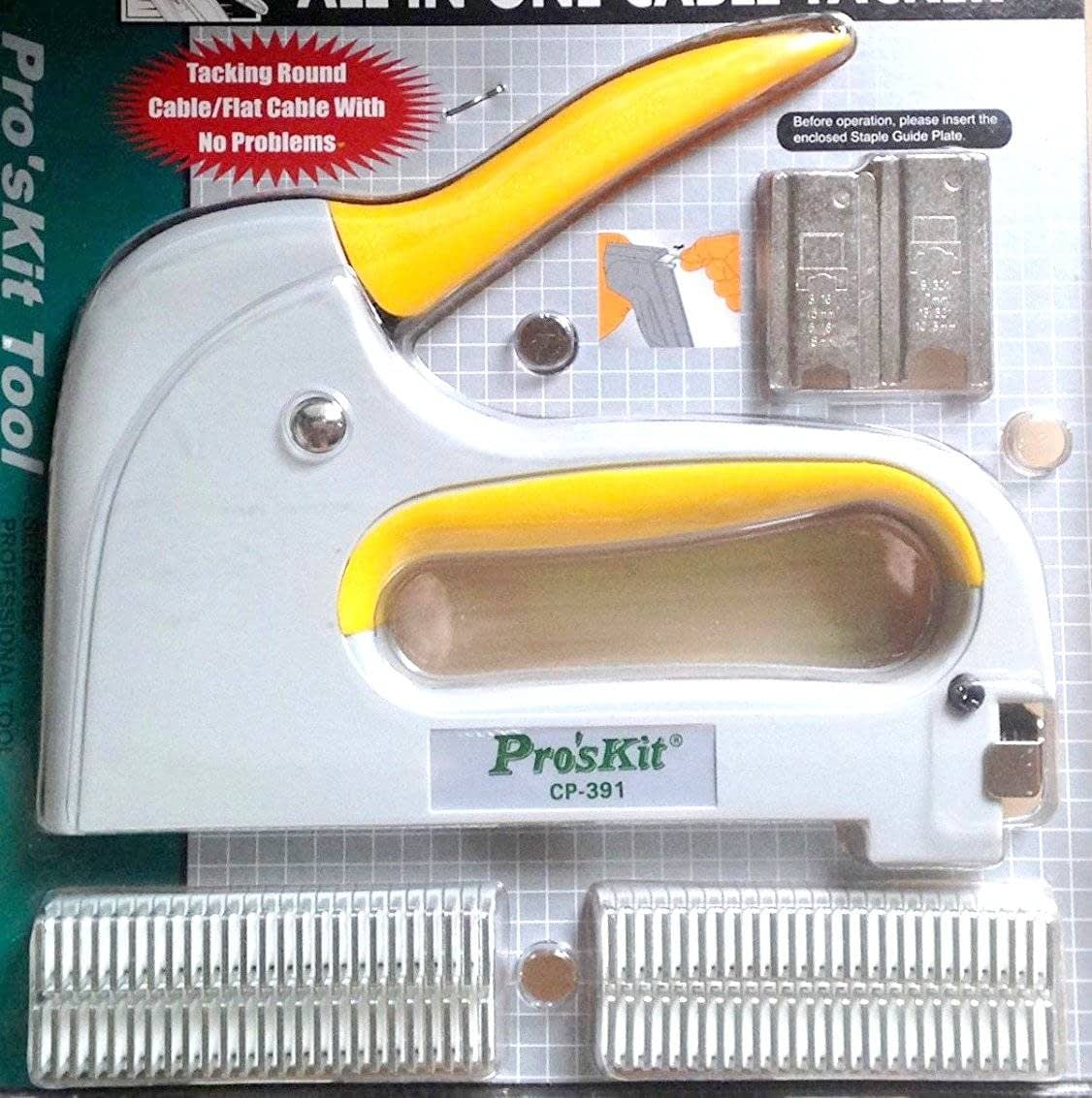 Grapadora profesional para cable ProsKit CP-391